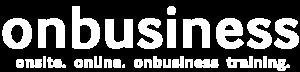 On Business Training Logo White